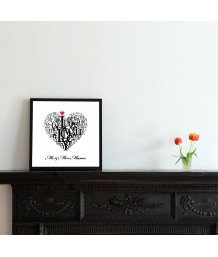 Love Heart Print  | Personalised
